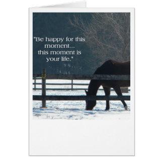 冬の馬 グリーティングカード