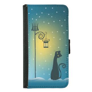 冬の魔法のクリスマス猫 GALAXY S5 ウォレットケース