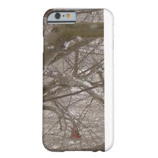 冬の(鳥)ショウジョウコウカンチョウの例 BARELY THERE iPhone 6 ケース