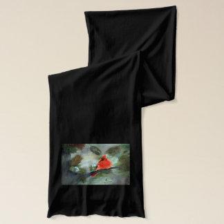 冬の(鳥)ショウジョウコウカンチョウ スカーフ