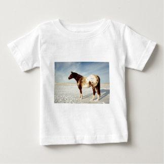 冬のAppaloosaのロバ ベビーTシャツ