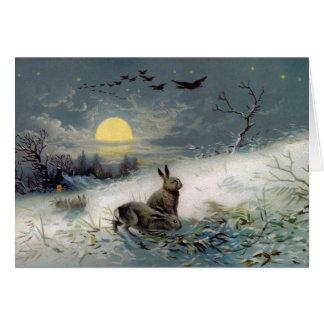 冬のbunnysのクリスマスカード カード