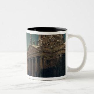 冬のGendarmenmarkt、1857年 ツートーンマグカップ