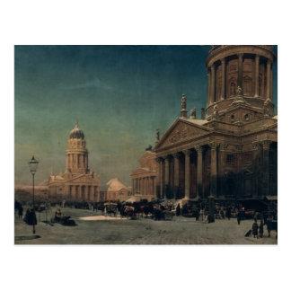 冬のGendarmenmarkt、1857年 ポストカード