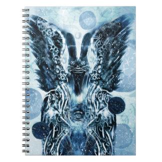 冬のHoodooのノウサギのノート ノートブック