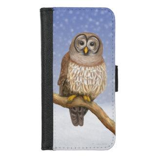 冬のiPhoneのアメリカフクロウ7/8のウォレットケース iPhone 8/7 ウォレットケース