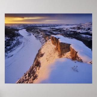 冬のLittle Missouri川 ポスター