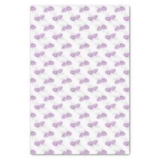 冬のPineconesの紫色の灰色白のティッシュペーパー 薄葉紙