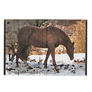 冬のPowisのiPadの空気2場合の馬 Powis iPad Air 2 ケース