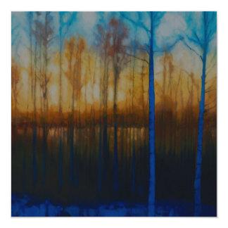 冬のSiljanの日没の暗闇 カード