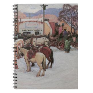 冬のTaosの広場 ノートブック