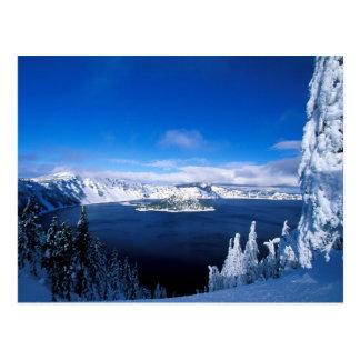 冬オレゴンのcrater湖 ポストカード
