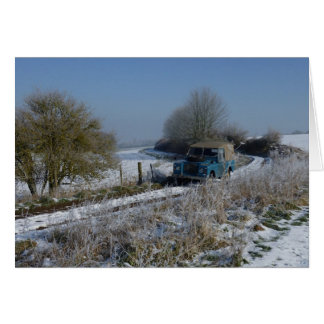 冬ドライブ グリーティングカード