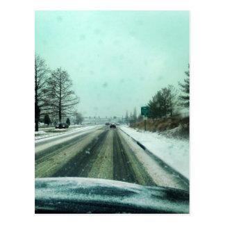冬ドライブ ポストカード