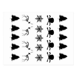 冬パターン ポストカード