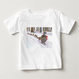 冬休みの間に共通ボストンのアヒル ベビーTシャツ