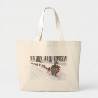 冬休みの間に共通ボストンのアヒル ラージトートバッグ