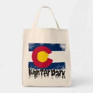 冬公園のグランジな旗 トートバッグ