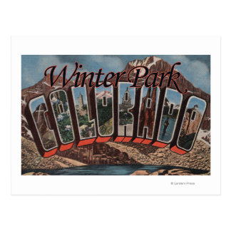 冬公園、コロラド州-大きい手紙場面 ポストカード