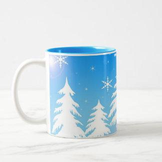 冬場面コーヒー・マグ ツートーンマグカップ