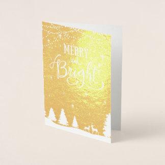 冬場面企業のな休日の挨拶 箔カード