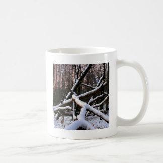 冬場面白い粉の森 コーヒーマグカップ