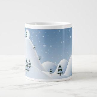 冬場面 ジャンボコーヒーマグカップ