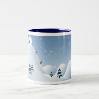 冬場面 ツートーンマグカップ
