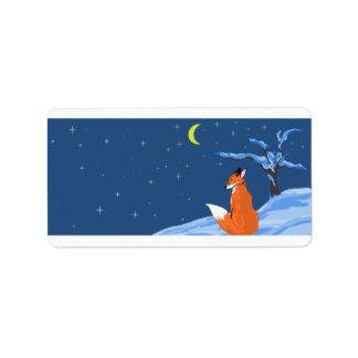 冬夜キツネのラベル ラベル