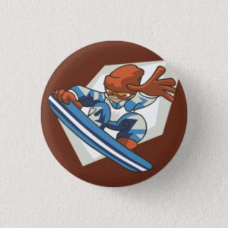 冬季スポーツのスノーボーダーの眼識ボタン 3.2CM 丸型バッジ