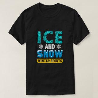 冬季スポーツ、氷および雪を愛しますか。 Tシャツ