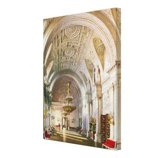 冬宮殿の白人のホールの眺め キャンバスプリント