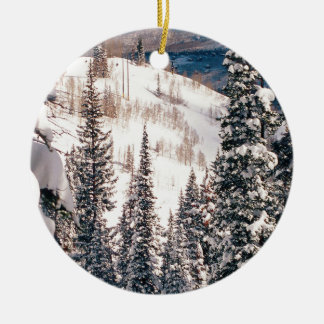 冬嵐ブライトンユタの前の平静 セラミックオーナメント