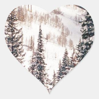 冬嵐ブライトンユタの前の平静 ハートシール