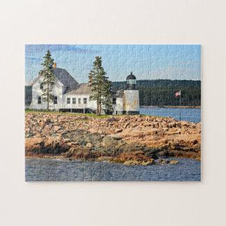 冬港の灯台、メイン ジグソーパズル