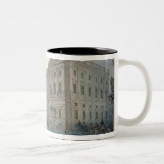 冬1863年のMariinsky宮殿の眺め ツートーンマグカップ
