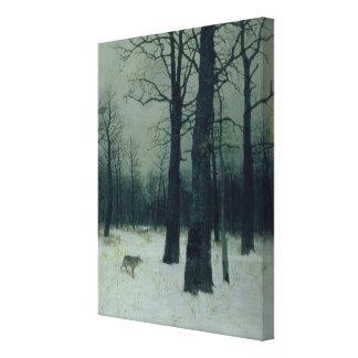 冬1885年の木 キャンバスプリント