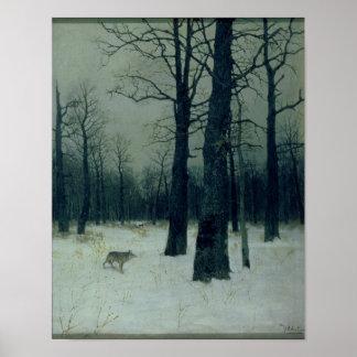 冬1885年の木 ポスター
