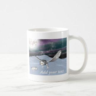 冬3Dのフクロウのマグ コーヒーマグカップ