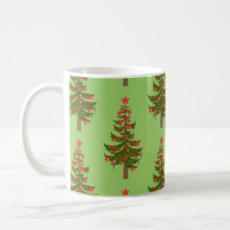 冬: ああ、クリスマスツリーパターン コーヒーマグカップ