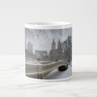 冬-セントラル・パーク-ニューヨークシティ ジャンボコーヒーマグカップ
