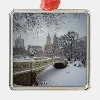 冬-セントラル・パーク-ニューヨークシティ メタルオーナメント
