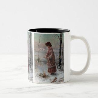 冬 ツートーンマグカップ