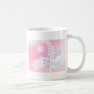 冬、ピンク、クリスマス コーヒーマグカップ