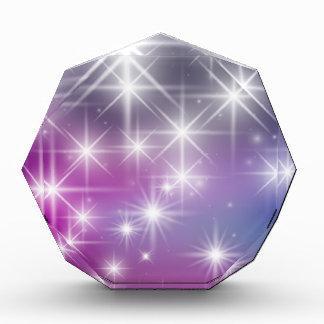 冬、紫色、薄紫、白色光、輝き 表彰盾