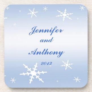 冬|結婚 ドリンクコースター