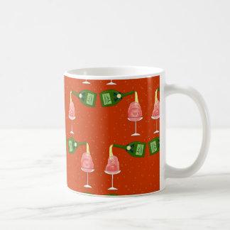 冬: 赤の休日のお祝いパターン コーヒーマグカップ