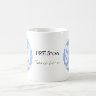 冬-雪のバニー コーヒーマグカップ