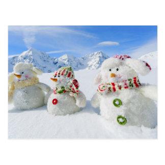 冬、雪、日曜日およびおもしろいのクリスマス ポストカード