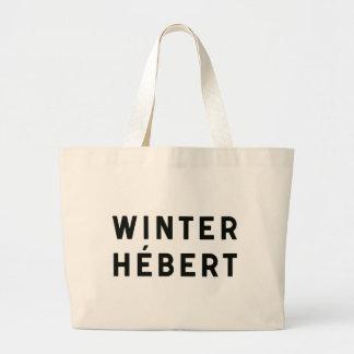 冬Hébert -印刷の戦闘状況表示板 ラージトートバッグ